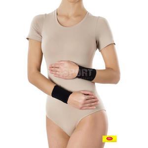 Opaska elastyczna stawu nadgarstowego - krótka bezszwowa 2 szt. czarna Rozmiar: S - 2834629344