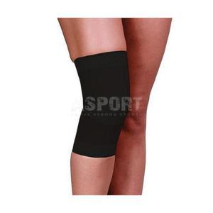Opaska elastyczna stawu kolanowego, bezszwowa, czarna Rozmiar: M - 2834629348
