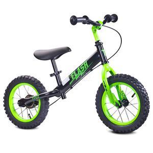 Rowerek dziecięcy, biegowy, metalowy 3-6 lat FLASH black-green Toyz - 2850215477