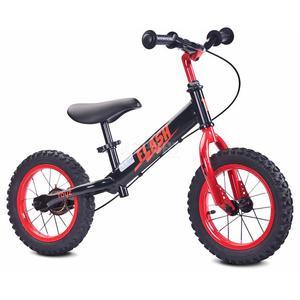 Rowerek dziecięcy, biegowy, metalowy 3-6 lat FLASH black-red Toyz - 2850215478