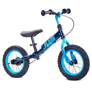 Rowerek dziecięcy, biegowy, metalowy 3-6 lat FLASH navy Toyz - 2850215480