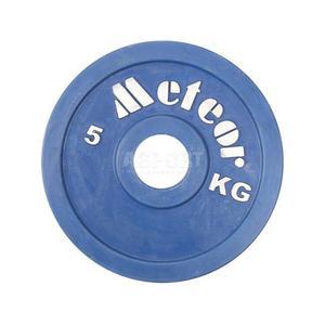 Obci��enie, talerz olimpijski, ogumowany 5 kg Meteor - 2838738851