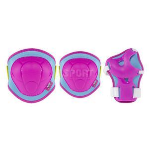 Ochraniacze dziecięce na nadgarstki, łokcie, kolana H106 różowe Nils Rozmiar: L - 2847029691