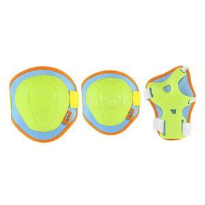 Ochraniacze dziecięce na nadgarstki, łokcie, kolana H106 zielono-niebieskie Nils Rozmiar: L - 2847029719