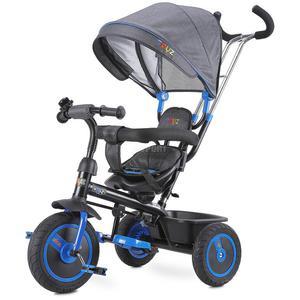 Rowerek 3-kołowy z rączką, daszkiem, trójkołowiec BUZZ niebieski Toyz