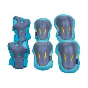 Ochraniacze dziecięce, zestaw: nadgarstki, kolana, łokcie PLATE Spokey Rozmiar: L - 2847764067
