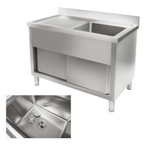 Zlew zlewozmywak basen nierdzewny stalowy do kuchni szer. 120cm - 2827717466