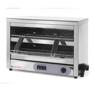 Opiekacz toster salamander kwarcowy GN1/1 timer 4500W 400V - Hendi 264331 - 2848510279