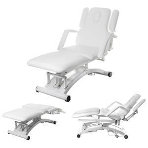 Łóżko stół rehabilitacyjny do masażu sterowany pilotem DIVINE Białe - 2834195919