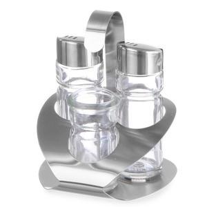 Zestaw do przypraw ze stali nierdzewnej sól pieprz wykałaczki - Hendi 465325 - 2850652759
