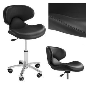 Krzesło kosmetyczne mobilne na kółkach Physa ANDRIA czarne - 2852140701
