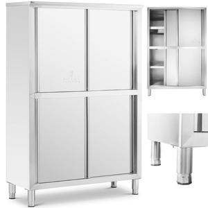Szafa gastronomiczna magazynowa ze stali nierdzewnej drzwi suwane 180x118x50CM - 2827717711