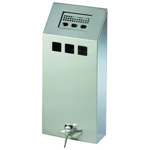 Popielniczka naścienna z wyjmowanym pojemnikiem zamykana na klucz stal nierdzewna 1.5L - 2852460446