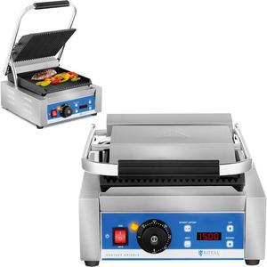 Kontakt grill elektryczny kontaktowy z wyświetlaczem LED żeliwne płyty 1800W - 2858607257
