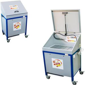 Myjka warsztatowa do części i narzędzi MST 800 z pokrywą mobilna - 2827717825