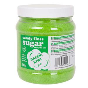 Kolorowy cukier do waty cukrowej zielony o smaku kiwi 1kg - 2874439521