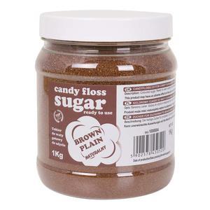 Kolorowy cukier do waty cukrowej brązowy naturalny smak waty cukrowej 1kg - 2874439527