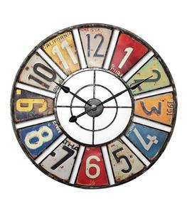 Zegar ścienny RETRO 60cm kolorowe cyfry - 2768806099