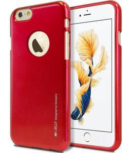 Mercury/Goospery i-Jelly Metal Case [Red], Pokrowiec silikonowy dla iPhone 6/6S - 2857488804