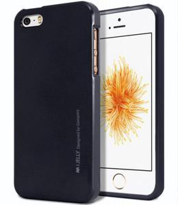 Mercury/Goospery i-Jelly Metal Case [Black], Pokrowiec silikonowy dla iPhone SE/5/5S - 2850947629