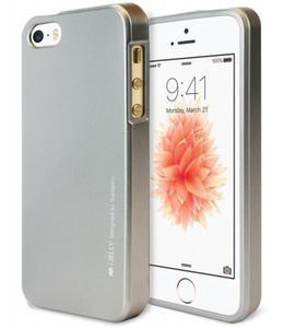 Mercury/Goospery i-Jelly Metal Case [Grey], Pokrowiec silikonowy dla iPhone SE/5/5S - 2853114832