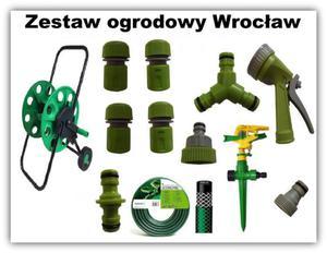 WĄŻ 30m WÓZEK na wąż PISTOLET do podlewania Zestaw Ogrodowy Wrocław - 2847284748