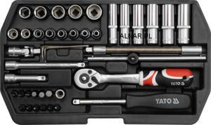 YATO ZESTAW NARZĘDZIOWY XS 1/4 CALA 42PC YT-1448 - 2822057100
