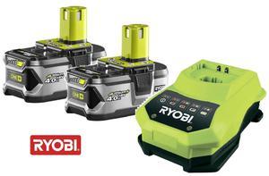 RYOBI RBC18LL40 2 x AKUMULATOR 4.0 Ah 18 V LI-ION ONE PLUS + ŁADOWARKA - 5133001916 - 2822062615