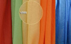 Woal kreszowany żółty V088- szer 135cm - 2832755552
