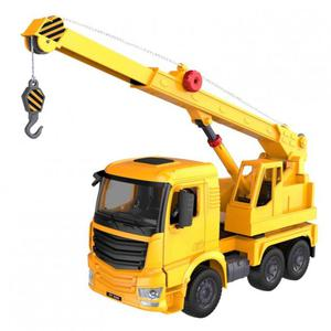 Ciężarówka z dźwigiem (dźwięki i światła, ręczna obsługa dźwigu) - 2847386186