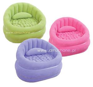 Modny fotel dmuchany 3 kolory 102 x 91 x 65 cm INTEX 68563 - 2077772125