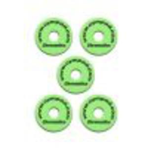 Cympad Chromatic 40/15mm Set Green podkładki do talerzy perkusyjnych (5 szt.), zielone - 2822487572