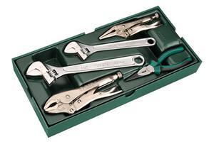 Zestaw kluczy nastawnych i szczypiec (wkładka do wózka narzędziowego) SATA 09909 - 2822994245