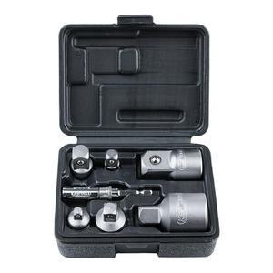 """Zestaw adapterów i redukcji 1/4"""" 3/8"""" 1/2"""" 3/4"""" 7 szt. KS TOOLS 918.0707 - 2856036494"""