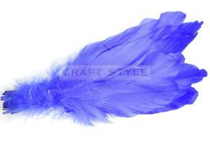 Pióra gęsie lotki-2 25szt kolor FIOLET ŚREDNI - 2846996792
