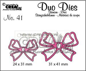 Wykrojnik CreaLies - Duo Dies no. 41 Bows - 2850130502