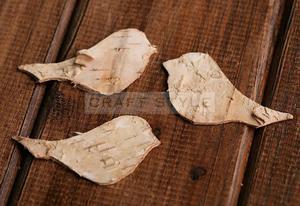 Ptaszki brzozowe naturalne 5-6 cm (4szt) - 2850603699