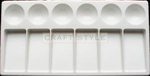 Paleta plastikowa 12x23cm 6+6 komór - 2850603739
