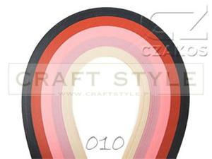 Paski do quillingu 5mm MIX-10 (200szt) - 2852805165