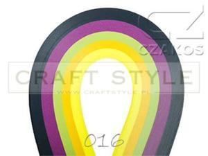 Paski do quillingu 5mm MIX-16 (200szt) - 2852805171