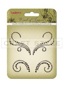 Dekoracja kryształki Pearls Swirl (grafit) - 2856552993