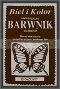Barwnik do tkanin uniwersalny 10g BRĄZOWY - 2857849338
