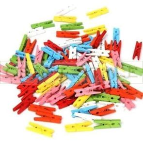 Drewniane klamerki mini MIX kolorów (50szt) - 2864477593
