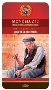 Kredki akwarelowe Koh-I-Noor - Mondeluz 3722 (12 kol) metalowe op - 2875793527
