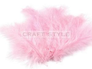 HAWAI pióra puchowe strusia 20szt JASNY różowy - 2822743300