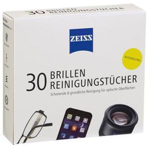 Chusteczki do czyszczenia okularów i wyświetlaczy ZEISS, 30 szt., białe - 2869923748