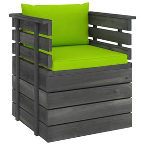 Emaga VidaXL Ogrodowy fotel z palet z poduszkami, drewno sosnowe - 2861716884