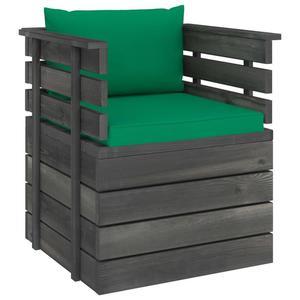 Emaga VidaXL Ogrodowy fotel z palet z poduszkami, drewno sosnowe - 2861716992