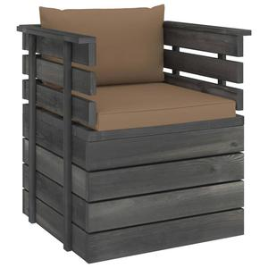 Emaga VidaXL Ogrodowy fotel z palet z poduszkami, drewno sosnowe - 2861716993