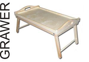 Stolik śniadaniowy z grawerem Składany stolik do łóżka z grawerem - 2833282730